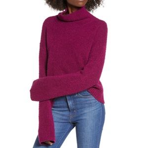 Leith | Boucle Magenta Purple Chunky Knit Sweater
